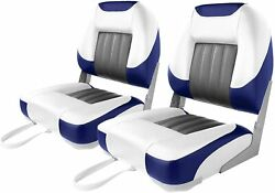 Deluxe Low Back Boat Seat Fold-down Fishing Boat Seat 2 Seats