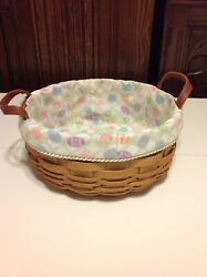Darning And Button Basket Liners From Longaberger Easter Egg Hunt Fabric
