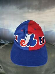 Montreal Expos Ccm Navy Red Authentic Collection Vintage Hat Cap Snapback