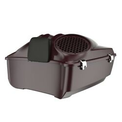 Black Cherry Dual 8and039and039 Speaker Lids Fits Advanblack/harley King Tour Pak Pack