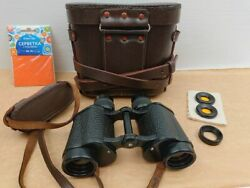 1950s Soviet 8x30 Military Binoculars Wwii Ussr Zomz Russian With Carrying Case
