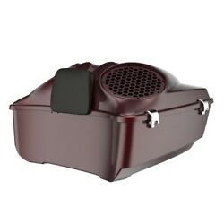 Crimson Red Sunglo Dual 8and039and039 Speaker Lids Fits Advanblack/harley King Tour Pack