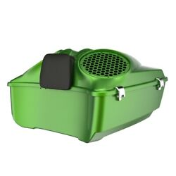 Radioactive Green Dual 8and039and039 Speaker Lids Fit Advanblack/harley King Tour Pak Pack