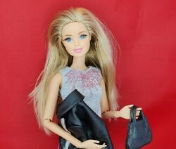 Barbie Style Glam Lux Fashionista Rooted Lashes Flats To Heels Articulated Doll