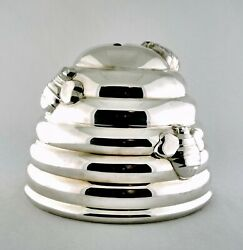 And Co Sterling Silver Buzz Buzz Beehive Coin Bank With Box, C. 2003