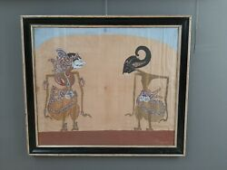Antique Wayang Kulit Painting From Java - Bali - Utzon Frank Collection Denmark