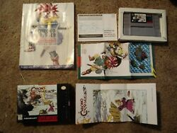 Super Nintendo Chrono Trigger With Box Strategy Guide And Maps F/s