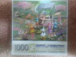 """New Sealed Bits And Pieces """"wishing Well 1000 Piece Jigsaw Puzzle 20 X 27"""