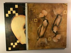Original Modernist Abstract Painting By California Artist Pablo Damas 30x40