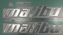 Malibu Boat Emblems 22.5 Chrome + Free Fast Delivery Dhlexpress -stickers Decal