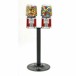 Bulk Candy Nut Gumball Machine Double Head T Stand