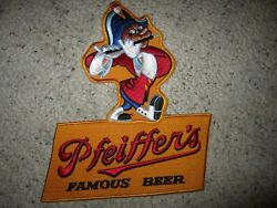 Vintage New Old Stock Pfeifferand039s Famous Beer Large Patch