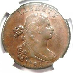 1798 Draped Bust Large Cent 1c - Certified Ngc Au Details - Rare Coin In Au