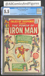 Tales Of Suspense 57 Cgc 5.5 Ow-white Pages First Appearance Hawkeye
