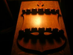Antique Wooden Spoon Rack Holds 12 Spoons 9 X 15 Inches Excellent Condition