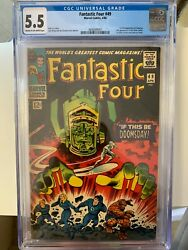 Fantastic Four 49 1966 Cgc 5.5 1st Galactus 2nd Silver Surfer 1st Cover