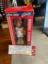 Lebron James Rookie Season Cavs Bobblehead Collectible From March 3, 2004 Nib...