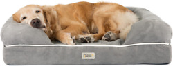 Friends Forever Orthopedic Dog Bed Lounge Sofa Large Pack Of 1, Pewter Grey
