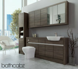 Bathroom Fitted Furniture Mali Wenge 1700mm With Wall And Tall - Bathcabz