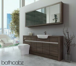 Bathroom Fitted Furniture Mali Wenge 1800mm H1 With Wall Unit - Bathcabz