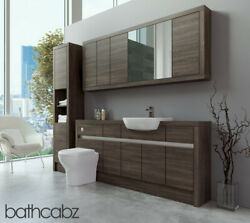 Bathroom Fitted Furniture Mali Wenge 1800mm With Wall And Tall - Bathcabz