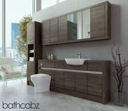 Bathroom Fitted Furniture Mali Wenge 1900mm With Wall And Tall - Bathcabz