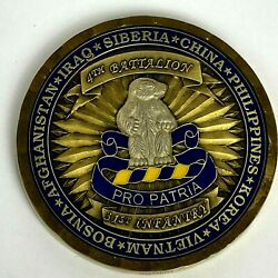 4th Battalion 31st Infantry Iraq Afghanistan Brass Challenge Coin Excellence