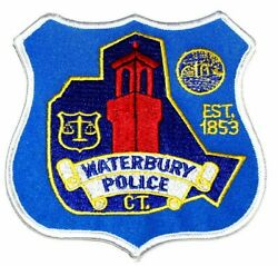 Waterbury Connecticut Ct Sheriff Police Patch Scale Of Justice Watch Tower