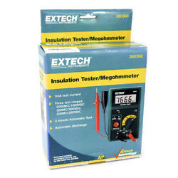 Extech 380360 Lcd Battery Operated Megohmmeter 0.1 To 2000 Megohm