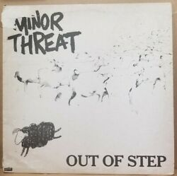 Minor Threat Out Of Step Vinyl 1983 First Pressing Black Back W/lyric Sheet Used