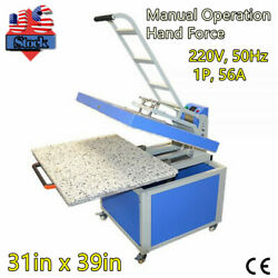 31in X 39in Large Format Textile Thermo Transfer Heat Press Machine Manual 6600w