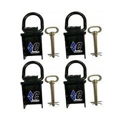 Diamond C Stake Pocket D-ring Set / With Pins For 6 Frame