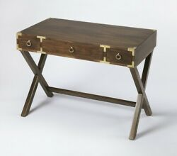 Home Office Study And Writing Solid Mango Wood Desk Vintage Style Laptop Table