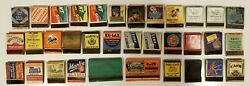 Vintage Lot Of 34 Rare Antique Matchbooks Old Advertising Matches