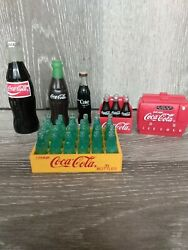 Vintage Collectors Coca Cola Advertising Refigerator Magnets And Novelty Figures