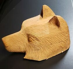 Cherokee Made Hand Carved Bear Rustic Décor Wood Carved Bear Sculpture Indian