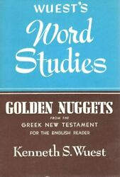 Word Studies From Greek New Testament For English Reader By Kenneth S. Wuest Vg+
