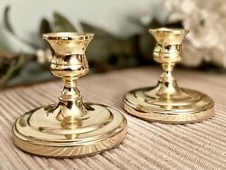 Vintage Baldwin Brass Petite Candlestick Taper Candle Holders Forged In America