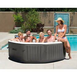 140 Jets 6-person Octagonal Portable Inflatable Hot Tub Spa Bath