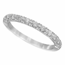 1/4 Carat Round Cut Diamond Anniversary Band In Solid 14k White Gold