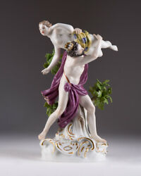 Antique 19th Original Meissen Story Figurine Abduction Of Persephone Marked 9