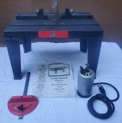 Skil Model 938 Router W/ Vermont American Table 23466 Woodworking Tools Carving