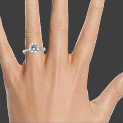1 3/4 Carat F Si1-si2 Womenand039s Diamond Engagement Ring Round Cut 14k White Gold