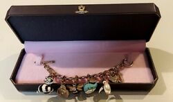 Juicy Couture🎀heart And J Bracelet With 5 Very Rare Limited Edition Animal Charms