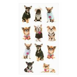 Chihuahua Dog Stickers Planner Supply Papercraft DIY Crafts Scrapbook