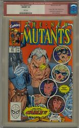 New Mutants 87 Cgc 9.8 1st Cable Mutant Liberation Front White Pages