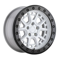 Black Rhino Gravel 15x7 5x100 Et15 Gloss White/blk Ring And Blk Bolts Qty Of 4