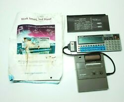 Vintage Sharp Pc-1360 With Ce-126p Printer Works Please Read