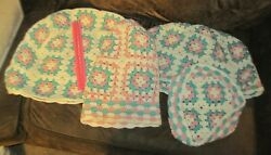 Set Of 4 Vintage Crocheted Blender Toaster Kitchen Appliance Cover Cozyies