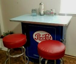Pepsi Cola Machine Lunch Counter Bar Ideal Cooler Diner Table Accessories Coke